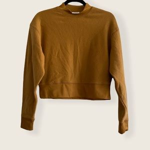 New Abound Mock Neck Knit Sweater In Tan Dale XS